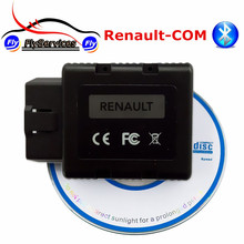 For Renault Diagnostic Tool Renault-com Bluetooth Funtion Same as For Renault CAN Clip Support Key Airbag ECU Programmer(China)