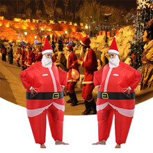 Santa Claus Inflatable Costume Party Cosplay Inflatable Suit Christmas Party Clothes Full Body Jumpsuit Xmas Party Supplies
