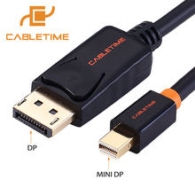 Cabletime Mini Displayport to Displayport Cable mini dp to dp Thunderbolt to DP HD Cable for Macbook Air High Premimu N019