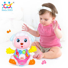 HUILE TOYS 888 Baby Toys Record and Play Interactive Electric Toy Sheep Kids Early Learning Educational Toys with Music & Lights(China)
