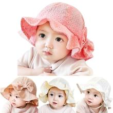 Cotton Blends Baby Hat Toddler Infant Sun Cap Summer Outdoor Baby Girl Floral  Hats Sun Beach Bucket Hat 2016