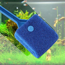 Fish Tank Aquarium Blue & Green Double Side Sponge Cleaning Brush Cleaner