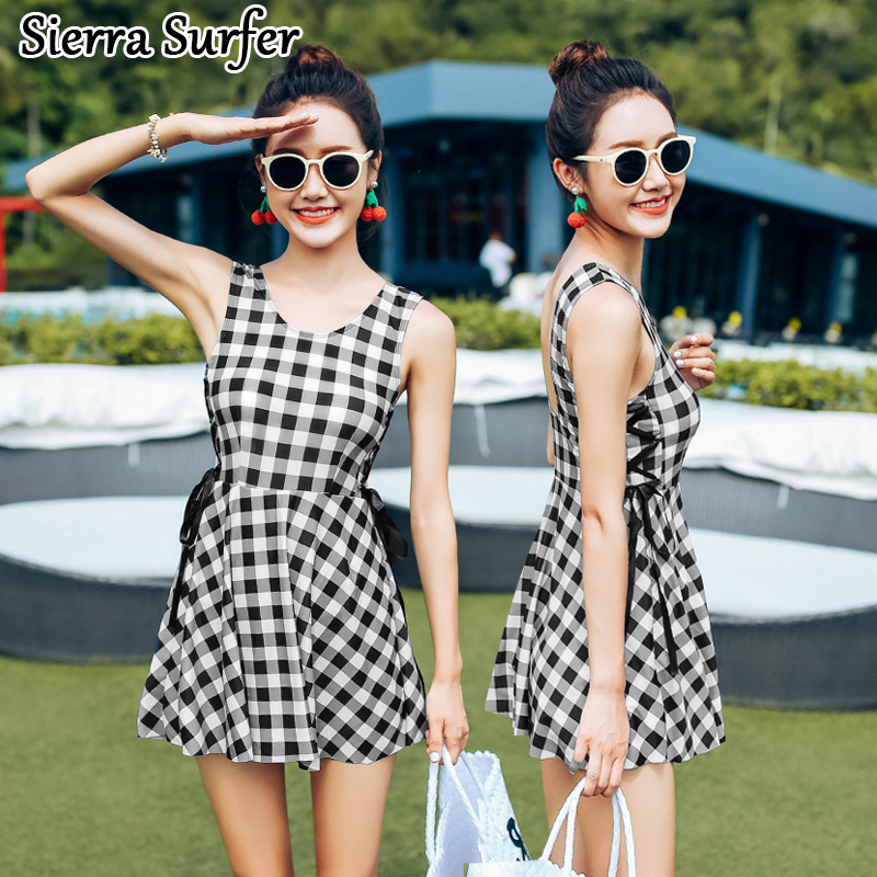 One Piece Swimsuit Cheap Sexy Bathing Suits Swimwear Female One-Piece New 2018 Skirt Suit Breasts Bayan Mayo Badeanzug<br>