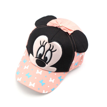 PRETTY KITTY  Fashion snapback  Cute Style Mickey Children Baseball Caps Boys Girls Caps Children Sun Hats Cotton