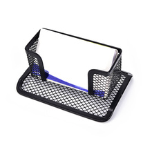 Card Holder Business Card Holder Desk Shelf Box Card Case Display Stand Storage Organizer Black Mesh Holder Tray(China)