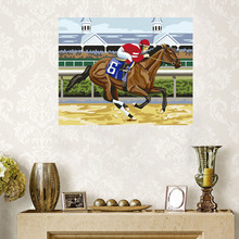 WEEN Horse Race Painting By Numbers DIY Handpainted Horse Pictures Coloring By Numbers On Canvas For Home Decor New Gift