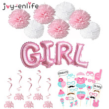 JOY-ENLIFE Birthday Decor It's A Girl/It's A Boy Hanging Swirl Decoration Shower Baby Banner Boy Girl Photo Booth Party Supplies