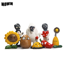 MOWIN 8pcs/lot PVZ FigureToy Model Plants vs Zombies Peashooter Action Figure Model Baby Tricks Toy Gifts Toys Enfants Cadeau(China)