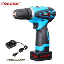 FOGO 25v Rechargeable Lithium Battery charging Cordless drill hand Torque Electric Drill bits Electric Screwdriver power tools
