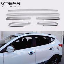 For Hyundai ix25 Creta accessories Roof luggage rack decoration Aluminum alloy Exterior styling parts roof rails rack 2015-2017