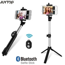 JOYTOP Fashion Foldable Selfie Stick Bluetooth Selfie Stick+Tripod+Bluetooth Shutter Remote Controller for Mobile Phone Stick(China)
