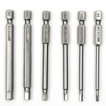 6pcs 75mm S2 Steel Inner Hexagon Head Magnetic Drill Screwdriver Set Bits Screw Driver Screwdrivers Kit Hand Tools(China)