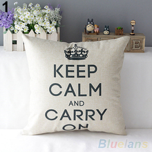Retro Home Decorative Cotton Linen Blended Cushion Cover Crown Throw Pillow Case 4FZR(China)