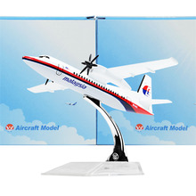 MALAYSIA AIRLINES SYSTEM BERHADFokker F50 14cm airplane child Birthday gift plane models toys Free Shipwping Christmas gift(China)