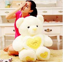 80 cm Big Teddy Bear Plush Toys With Heart, Lover Gift For Valentine Day ,Kids Teddy Bear Gift Toys(China)