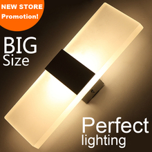 New store promotion LED wall light living sitting room foyer bedroom bathroom modern wall sconce light square LED wall lamp(China)