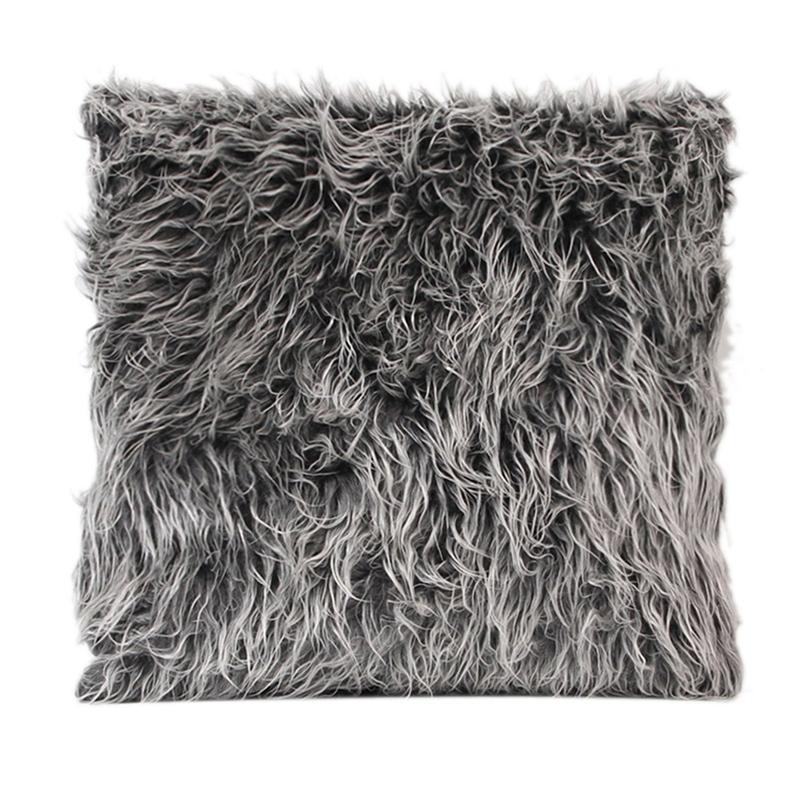 Soft Fur Plush Throw Pillow Cases
