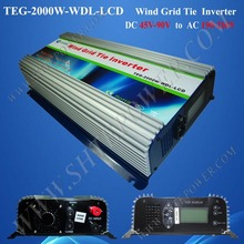 2kw wind power inverter 2000w wind turbine on grid dc to ac with lcd inverter