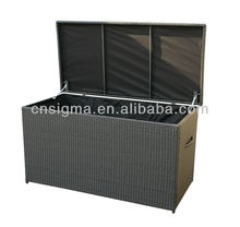 2014 All-Weather Outdoor furniture Rattan poly rattan storage box Storage Cabinet(China)