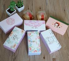 13.5*7*5cm White pink cute packing cardboard gift box product packaging cheap storage cardboard paper box blue(China)