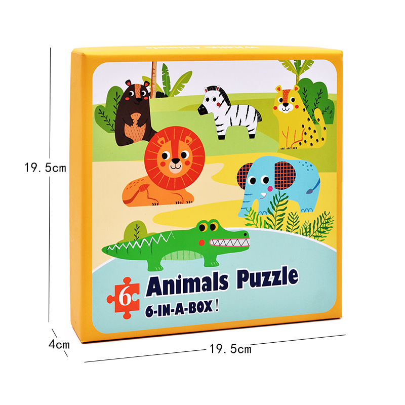 Baby Toys Cartoon Animal Paper Children Puzzle Children early learning Montessori education toys Puzzle for children 3 years 9