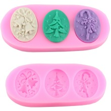 Silicone Cake Decorating Mold Fondant Chocolate Cupcake Moulds Soap Candle Molds Christmas Kitchen Baking Supplies CT034