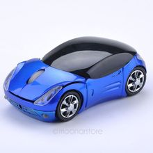 2.4G Wireless Mini Optical Car Mouse for Laptop PC USB Receiver Mause game car mouse zx*DA1057#s8(China)
