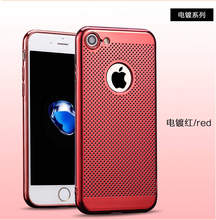 Hot Plating Ultra Thin Net Matte Printed Hard Red PC Radiating Case Back Cover Capa capa On For iPhone 6 6s plus 7 7 plus