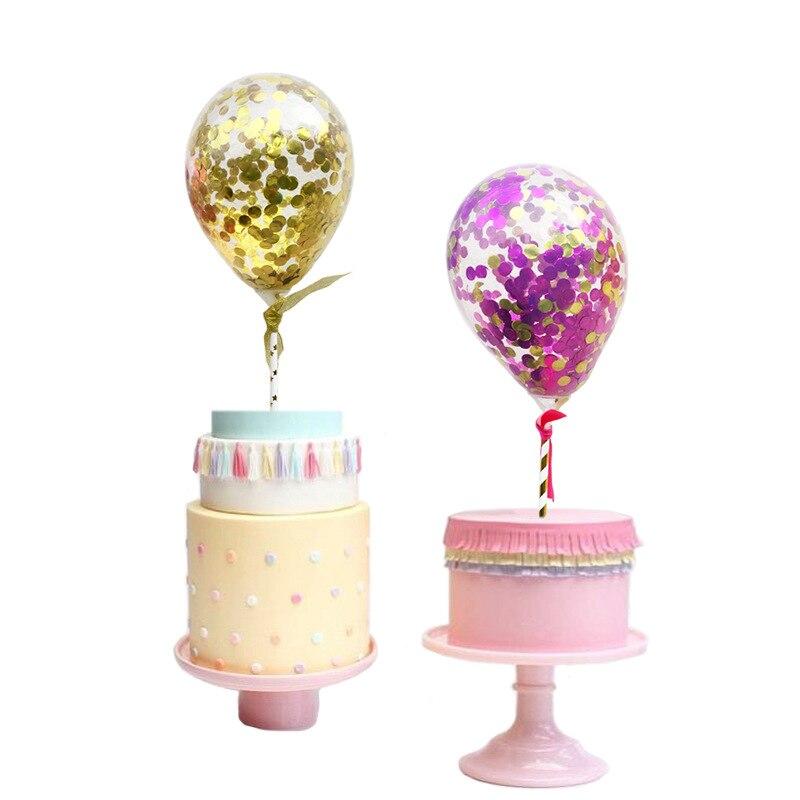 1pc DIY Creative Cake Topper Balloon Cake Flags For Wedding Birthday Party Cake Baking Decor Supplies DIY New Year