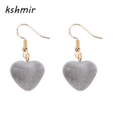 kshmir Simple and elegant Personality earrings The fashion of hearts Girls act the role ofing is tasted(China)