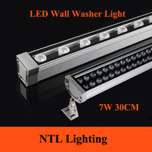 New 0.3M 7W LED Wall Washer Landscape light AC 85V-265V 12V 24V outdoor lights wall linear lamp floodlight 30cm wallwasher