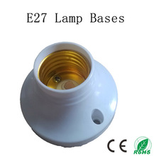 5pcs/lot E27 Lamp Bases,Circular e27 Socket,Colour and Iustre is White,No Greater Than AC250V 60W(China)