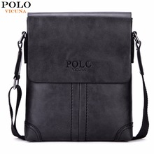 VICUNA POLO Unique Thread Design Mens Frosted PU Leather Messenger Bag Small Leisure Mens Bag Promotional Men Shoulder Bag New