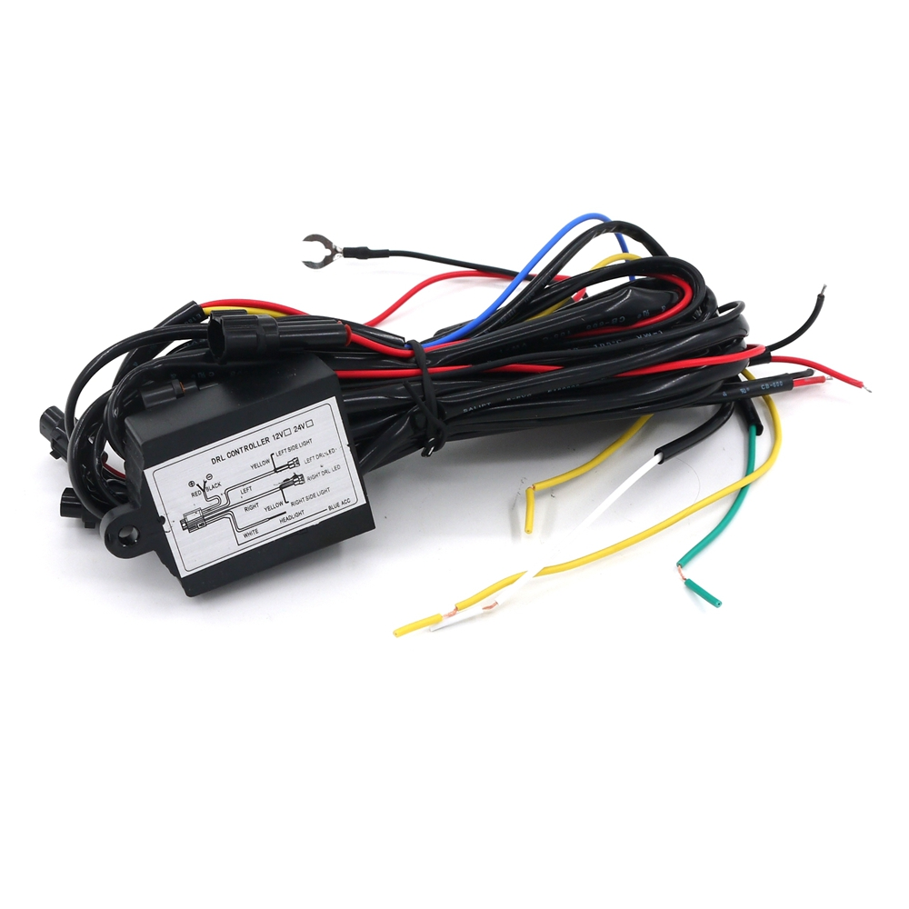 2016 1pcs 12V DRL Daytime Running LED Light Relay Harness Control on Off Switch  Dimmer Car Auto<br><br>Aliexpress
