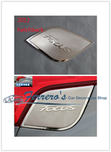 Free shipping car sticker stainless steel fuel tank cap decorate the sequins for 2012-2015 Ford focus hatchback high quality