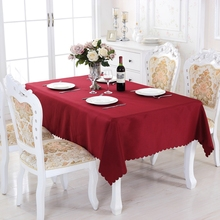 Eureapen Style Solid Round Polyester Rectangle Tablecloth On table Square Dining Tablecloths Picnic Tablecloth For Table Kitchen