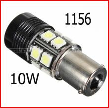 Free Shipping 2psc/lot super high power 1156 10W BA15S turn light led bulb white BA15S LED 10W Reverse Light Bulb #j#
