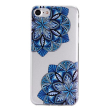 Case Cover For iPhone 7 6 5 S SE 5s 6s Plus 6Plus 7Plus Mandala flower Skin Soft Back Shell Ultrathin Silicone Casing Housing