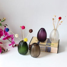 Colorful glass vases No fire aromatherapy oil bottle matt grain finish modern fashion design flower vases coffee purple green