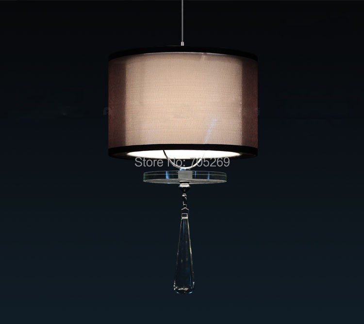 Free shipping modern fashion 3W E27 Lantern LED pendant lights Crystal Pendants Lamps Double Cloth Lampshade<br>