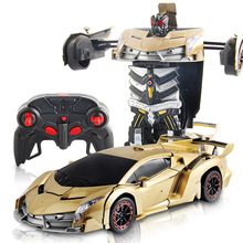 1:18 Transformation Robot Remote Control Racing Car RC Vehicles Car Model Eletronic Toys Boys Gift