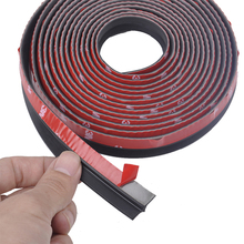 4 Meter Z type 3M Adhesive Car Rubber Seal Sound Insulation Car Door Sealing Strip Weatherstrip Edge Trim Noise Insulation(China)