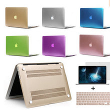 Matte Case Apple Macbook Air Pro Retina 11 12 13 15 Laptop Bag Sleeve Notbook Hard mac+Keyboard Cover+Film without Logo - Great Wall technology co., LTD store