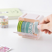 Color Washi Tape Storage Box Diy Must Have Plastic Adhesive Tape Dispenser Office Desktop Scotch Tape Holder Stationery Store(China)