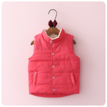 2016 Autumn New Pattern Korea Style Children's Garment Solid Color Increase Down Girl Baby Joker  Warm Vest Waistcoat