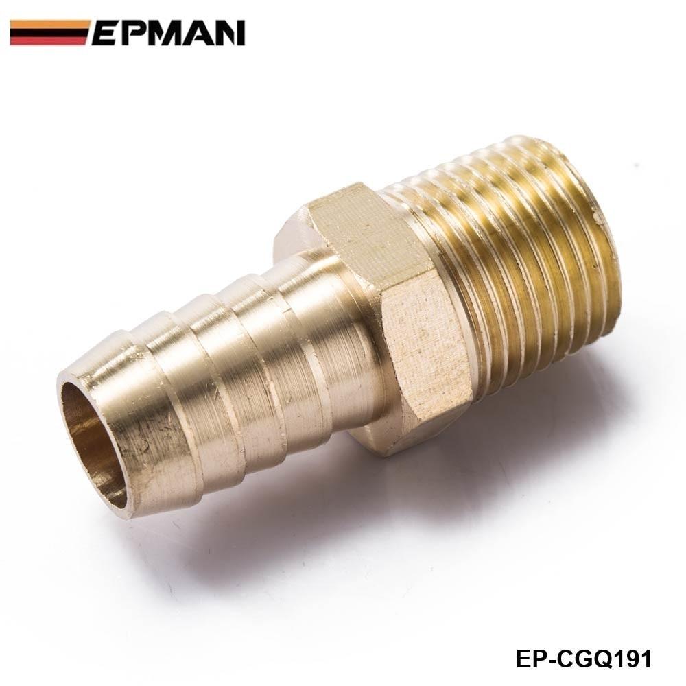 "EPMAN - Brass 1/2"" MNPT x 5/8"" Hose Barb Fitting For BMW VW AUDI Vacuum line/Fuel pump/Oil cooler EP-CGQ191"