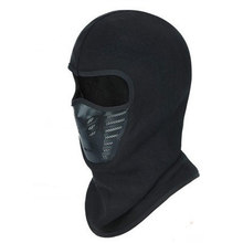 Winter Warm Full Face Cover Thermal Fleece Lined Windproof Anti Dust Ski Mask Balaclava Hood Rubber Breathable Vent(China)