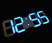 Large Display Led Digital Wall Clock with Remote Control, Countdown Count Up Wall Timer with Temperature Date 6'' High Led Digit