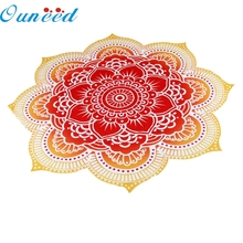 Ouneed Top Grand Round Beach Pool Home Shower Towel Blanket Table Cloth Yoga Mat Red De Pantalla Happy Gifts Quality