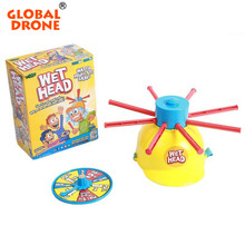 Global Drone Wet Head Hat Water Game Challenge Wet Jokes And toy funny Roulette Game toys Gags Practical Jokes